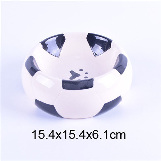 Football Design Bowl Bottom Printing Hundefußabdruck Keramik Pet Feeder Dog Bowl Cat Bowl